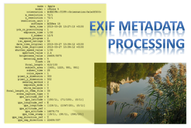 EXIF metadata batch processing
