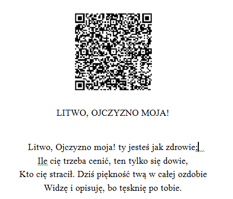 Insert QR code into MS Word doc