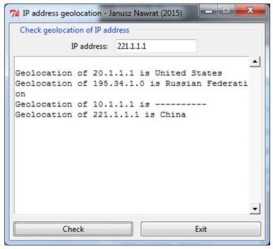 Geolokalizacja adresów IP
